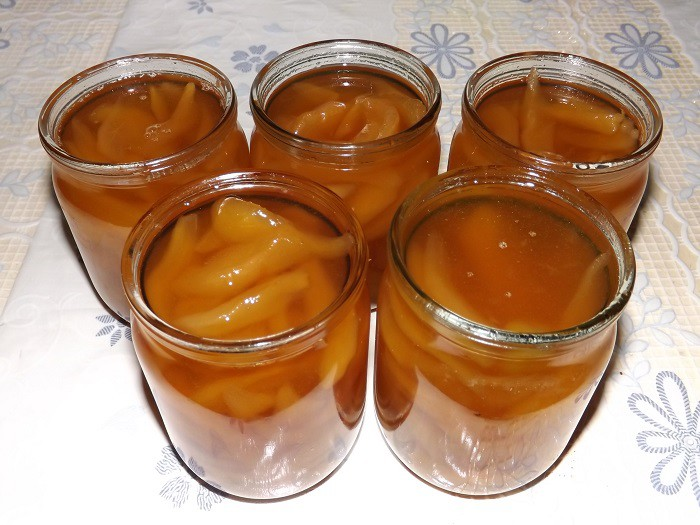 Янтарное варенье из груш дольками на зиму: 7 рецептов