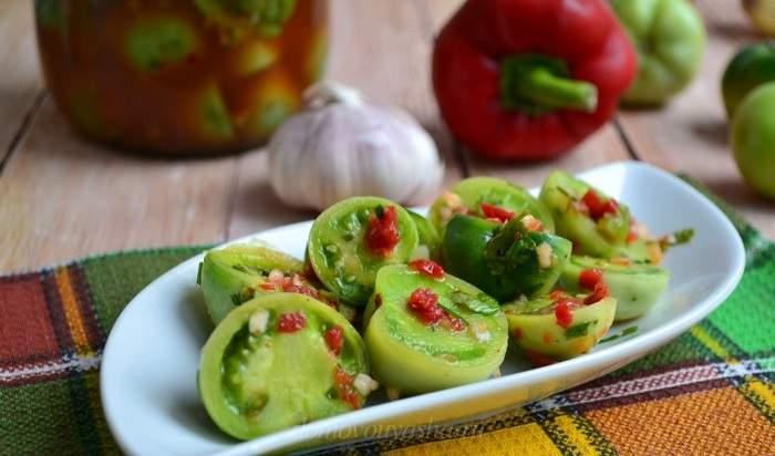 Соленые зеленые помидоры