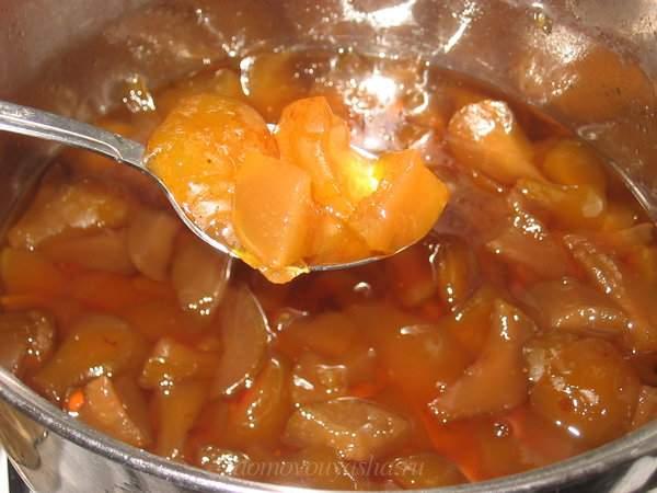 Янтарное варенье из груш дольками на зиму