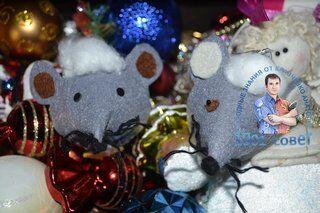 Елочная игрушка мышка своими руками