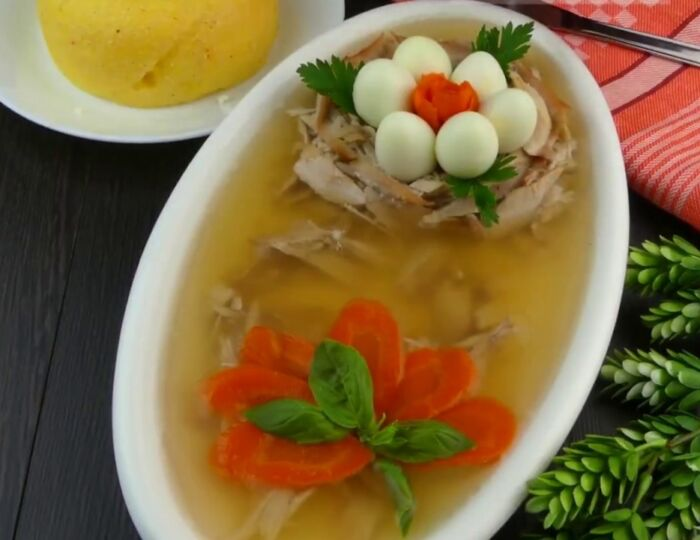 Холодец из курицы без желатина пошаговый рецепт