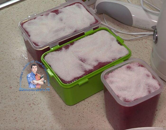 Клюква с сахаром на зиму