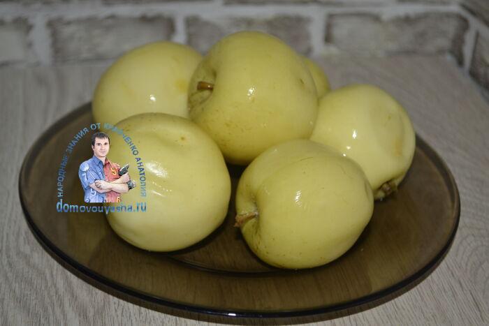 Моченые (ферментированные) яблоки в банках