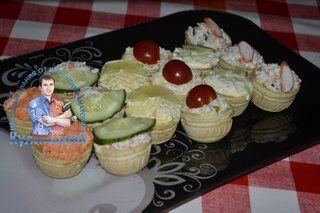 Вкусные тарталетки на праздничный стол
