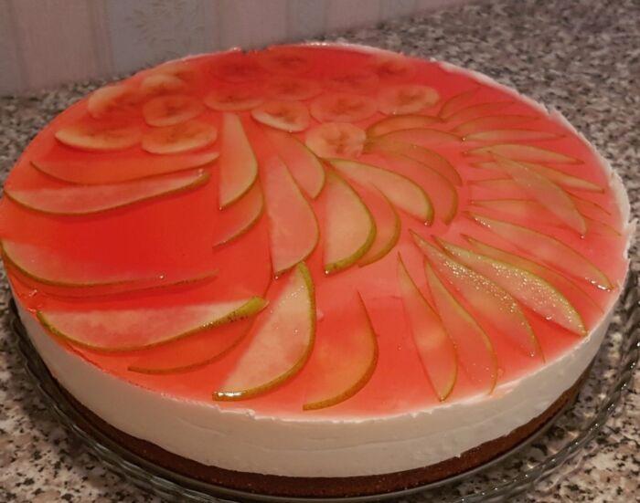 Вкусный торт с желейной заливкой со сметаной