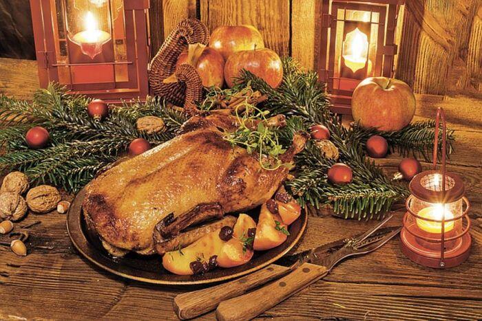 Как приготовить рождественского гуся