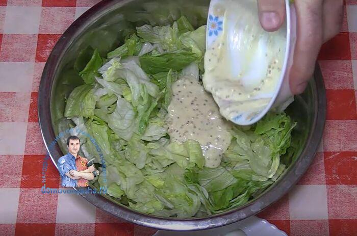 Салат Цезарь без курицы