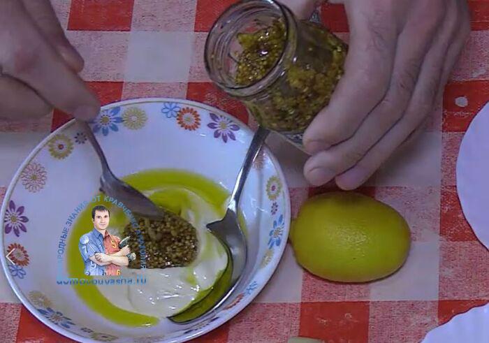 Заправка для Цезаря с горчицей и майонезом