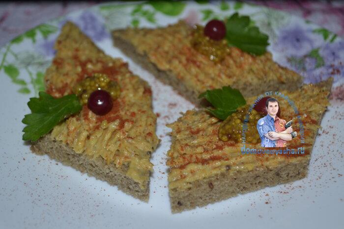 Селедочная намазка для бутербродов(рубленная) с плавленным сыром