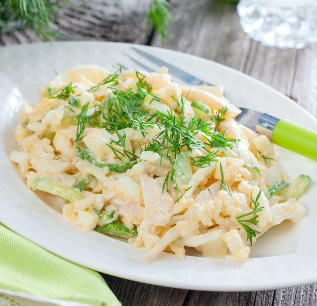 Классический кальмаровый салат